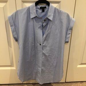 J Crew Tailored Career Blouse Short Sleeve Lk New
